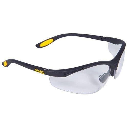 Dewalt Reinforcer DPG58 Eyewear Black/Clear/Yellow